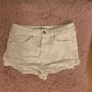Forver 21 White Jean Shorts
